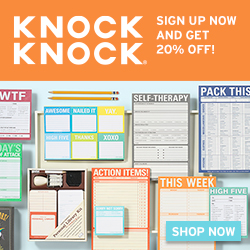 Knock Knock Scoop - Sign up for 20% Off