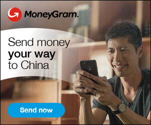 Send money to China via MoneyGram!