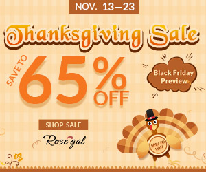 Rosegal Thanksgiving Sale & Black Friday Preview