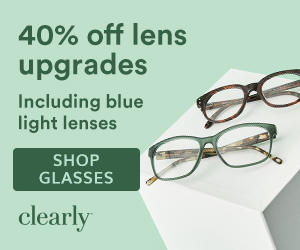 Save 40% off lenses at Clearly. Shop now with code: LENSUP40