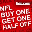 NFL - Buy One Get One Half Off at lids.com