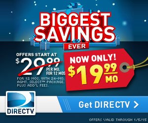 DIRECTV Biggest Savings Ever - $19.99/mo