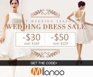 Wedding Dresses Sale: -$30 over $169;-$50 over $229