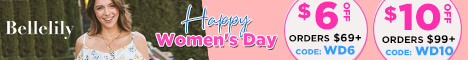 Bellelily - Women's Day Sale $6 Off Orders $69+