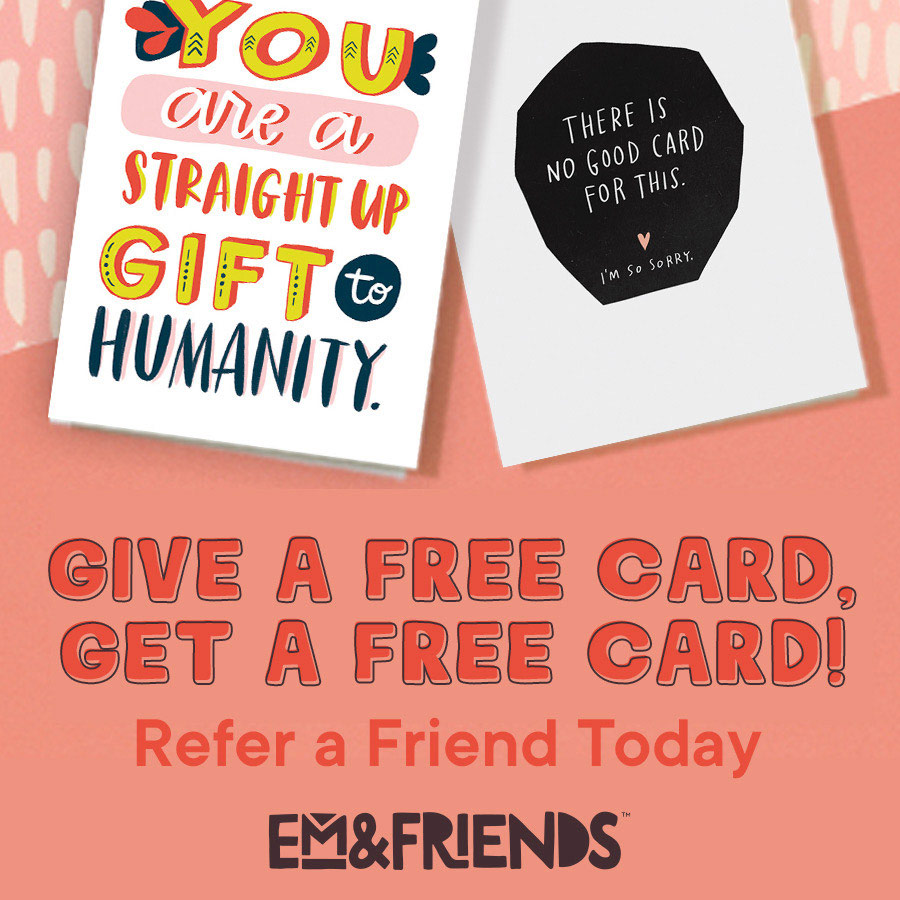 Refer a friend and you get $10! Your friend gets 50% off their first purchase!
