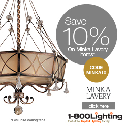 Take 10% Off Minka Lavery Items with code MINKA10 + Free Shipping over $49 at 1800lighting.com!