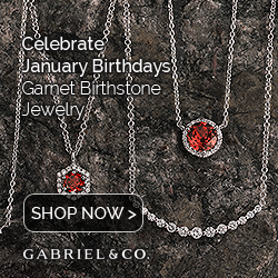 January Birthstone Red Garnet Fine Jewelry Banner