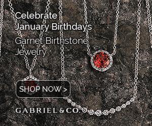 January Birthstone Red Garnet Fine Jewelry Banner