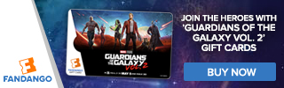 Fandango - Guardians of the Galaxy Vol. 2 Gift Card Banners