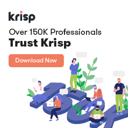 Over 150K Professionals trust Krisp