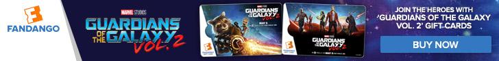 Fandango - Guardians of the Galaxy Vol. 2 Gift Card Banners