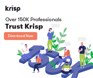 Over 150K Professionals trust Krisp