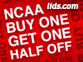 NCAA - Buy One Get One Half Off at lids.com