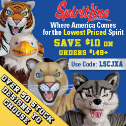 Save 15% on School Mascot Costumes at Spiritline