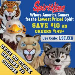 Save 15% on School Mascot Costumes at Spiritline