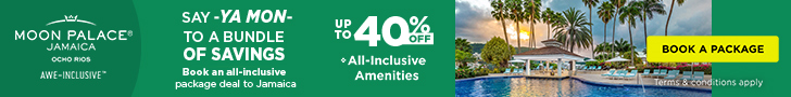 Flights + Free Night. Up to 35% off all-inclusive luxury at Moon Palace Jamaica. Safe Travels.