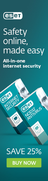 ESET Antivirus and Internet Security for Windows computers - Save 25%