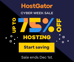 Host Gator Cyber Week: 75% off on Select Plans + Free Domains