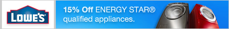 Save 15% on Energy Star Appliances at Lowes.com
