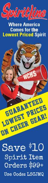 Save 15% on Cheerleading supply orders $99+