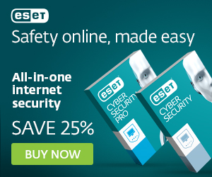 Image for 300x250 ESET Banner for Mac products - Save 25%
