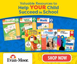 Evan-Moor flashcards and worbooks