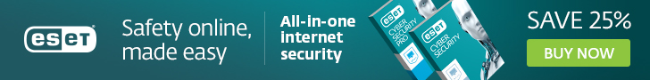 ESET Antivirus and Internet Security for Mac computers and laptops - Save 25%