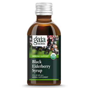 3 oz. Black Elderberry Syrup Product Rendering