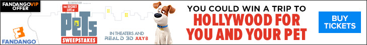 Fandango - Secret Life of Pets Sweepstakes