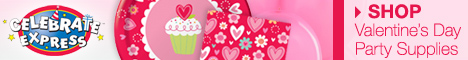 Shop Valentine's Day Party Supplies - 468x60