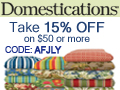 Take 15% OFF on orders of $50 or more