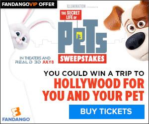 Fandango - Secret Life of Pets Sweepstakes