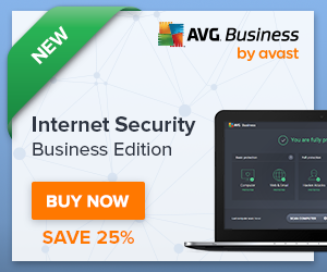 Get 25% off deal on NEW AVG Internet Security Business Edition!