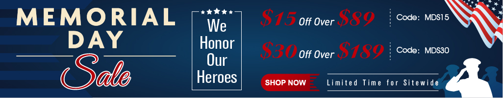 Memorial Day Sale:  Save Extra $30 OFF Over $189 With Code: MDS30