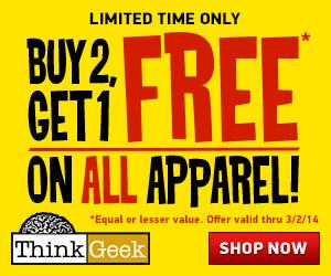 Buy 2, Get 1 Free Apparel