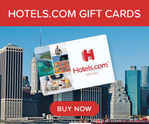Hotels.com gift cards deals