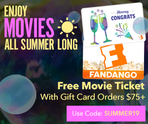 300x250 Get a $15 Fandango Promotional Code on purchase of $75 worth of Fandango gift cards!