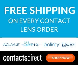 Get free shipping on every contact lens order at ContactsDirect.com.