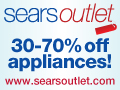30-70% off Sears Outlet Appliances