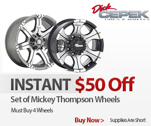 Purchase 4  Dick Cepek Wheels and get an INSTANT $50 OFF.