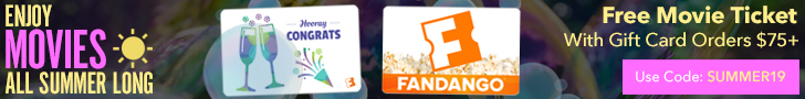 728x90 Get a $15 Fandango Promotional Code on purchase of $75 worth of Fandango gift cards!