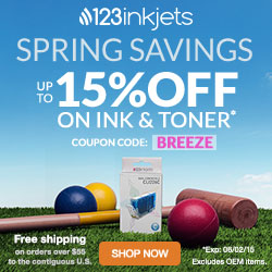 123Inkjets.com | Code: SQUASH Offer: 15% Off Compatible Ink, 10% Off All Other Products (excludes Hardware & OEM Items) Free Shipping on All Contiguous U.S. Orders Over $55 Expiration: 12/8/14