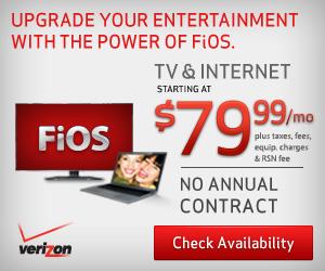 Verizon FiOS TV+Internet $79.99/mo for 1 yr w/ no term agmt+router+no activation fee