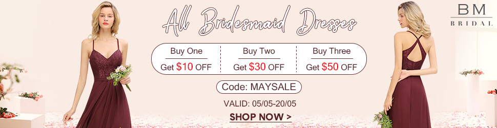 Burgundy Bridesmaid Dress On Sale