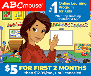 ABCmouse 2 Months for $5 Sale! 300x250