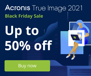 Acronis True Image - up to 50% discount coupon code Black Friday Sale