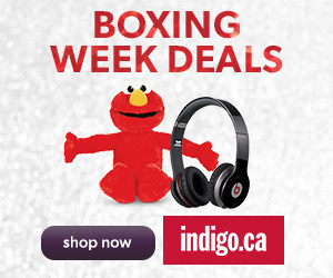 BOXING WEEK DEALS at Indigo.ca! December 25th to January 1st.