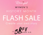 Women's History Month: From 38% OFF + Free Shipping