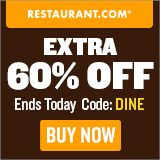 Restaurant.com Weekly Promo Offer 160 X 160