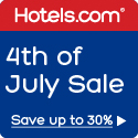 4th of July Sale! Save up to 30%. Book by 7/4/14, Travel between 7/1/14 - 7/9/14
